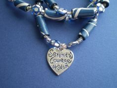 AA Serenity Paper Bead Necklace  Blue White by ActuallyPAPERBeads, $50.00