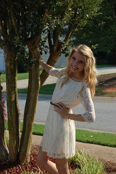 lace dress for graduation (: