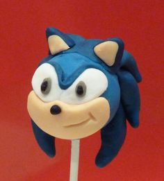 Sonic the Hedgehog cake pop by Just Cake Pops Sonic the Hedgehog c. Sonic the Hedgeh Sonic Birthday Parties, Sonic Party, 5th Birthday, Birthday Cakes, Bolo Sonic, Sonic Cake, Sonic The Hedgehog Cake, No Bake Cake Pops, Chocolate Lollies