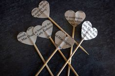 25 Heart shaped cupcake toppers made from pages Jane Austens Novels. Featuring names, places and sentiments from Pride and Prejudice, Persuasion, Sense and Sensibility with more to come. These are double sided so it doesnt matter which way they are facing. This would be a lovely addition to any party or function you are having! Especially if it is Jane Austen or book themed. Please find other cupcake toppers from classic books and music sheets in my other listings.