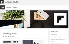 Free Blogging WordPress Template Convention. Minimal WP Themes. Responsive Mobile ready design. Retina ready. Simple blogging perfect. Custom logo header.