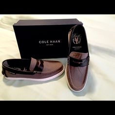 COLE HANN Pinch Weekender color:STRMCL CV/BL/LT Brand new in original box. Never been used. Cole Haan Shoes Flats & Loafers