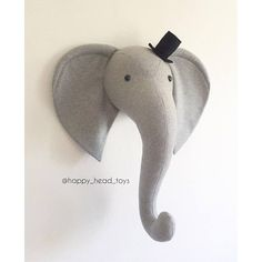 The processing time is 2-3 weeks + shipping worldwide 10-30 days. This big and soft elephant head is a great idea to decorate baby room or nursery room for your little or big kids. Materials: 100% wool, plastic eyes. Size: L 40*40 XL 60*60 centimeters I can create the elephant in any
