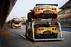 Before Sunset    Le Mans racers waiting to be unpacked