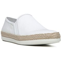 Vince Acker Espadrille Slip-On Sneakers (116,970 KRW) ❤ liked on Polyvore featuring shoes, sneakers, vince shoes, champagne shoes, slip on sneakers, slip-on sneakers and platform slip on shoes