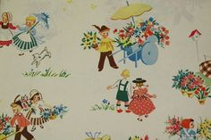 vintage dutch wrapping paper