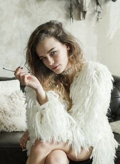 Speechless.. This super soft off white mohair shag jacket in our longer length with pockets is the ultimate Lover & Drifter essential.. You aint no lovin, driftin wild thing without one..  Available in Size S/M & M/L Composition: Mohair Knit
