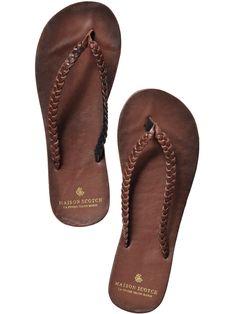 my favorite summershoe... leather flip flops, it`s true love!
