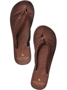 Scotch & Soda Leather Flip Flops