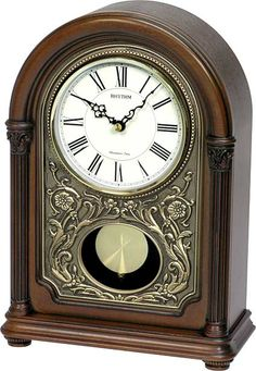 Check out the huge savings on New Rhythm Clocks WSM Amherst Musical Mantle Clock Dark Walnut at LampsUSA! The best products at discount pricing. Tabletop Clocks, Mantel Clocks, Mantle, Clock Art, Desk Clock, Rhythm Clocks, Bb Shop, Cool Clocks, Large Clock
