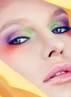 Technicolored Cosmetic Captures - The Akwarele Beauty Story Highlights Kaleidoscopic Makeup Looks (GALLERY)
