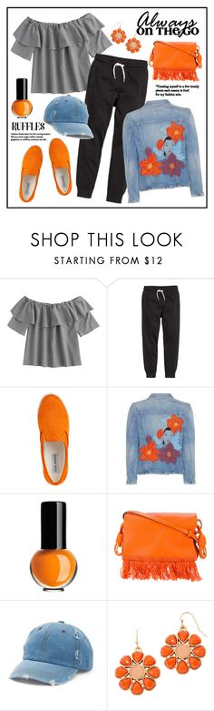 """On The Go!"" by diane1234 ❤ liked on Polyvore featuring H&M, Steve Madden, Citizens of Humanity, Kosta Boda, Loewe, Mudd and Liz Claiborne"