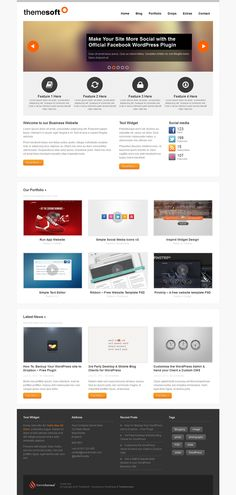 ThemeSoft is a clean & #responsive portfolio #theme for creatives, businesses and freelancers.