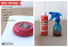 Creating With Kids: Spray Bottle Silhouette Art