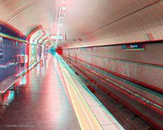 NadaMas Arte: Estación de Metro de Chueca - Madrid - 3D Anagliph... Madrid, Fair Grounds, 3d, Travel, Design, Shopping, Metro Station, Personalized Mugs, Parking Lot