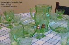 Cameo Green Depression Glass