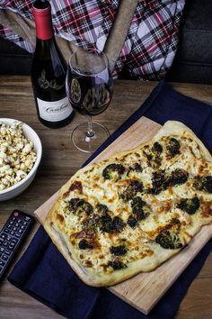 Movie Night: Homemade Chicken-Broccoli Alfredo Pizza and Chili-Maple Popcorn