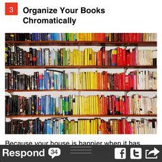 Organize books chromatically