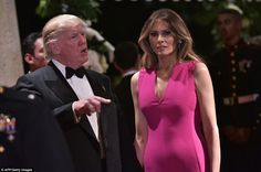 President Trump looked stony-faced as a furious legal battle erupted over the president's controversial immigration executive order. A defiant Trump declared that his team will win 'for the safety of the country' while he attended a ritzy Florida gala with Melania on Saturday night