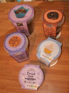 Some of Tesco's Easy Home Bake range!