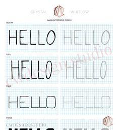 15 Hand Lettering Styles - Worksheet