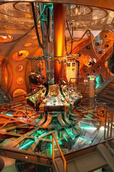 interior of the tardis - demonstrating advancements in technology as well
