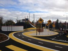 Pitstop Playground, Banksia Grove - Buggybuddys guide for families in Perth Baby Competitions, Playground Painting, Fun Park, School Holiday Activities, Perth Western Australia, Outdoor Learning, Bike Trails, School Holidays, Kids Sports