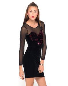 7995d4b2c58 Boohoo Alexa Sequin V Back Bodycon Dress - Polyvore House Of Fraser