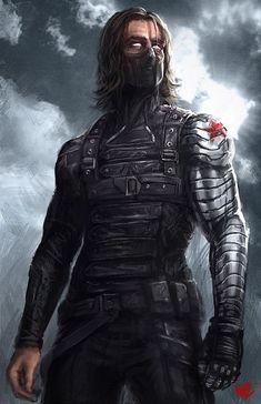 The Winter Soldier by W-E-Z.deviantart.com on @deviantART - visit to grab an unforgettable cool 3D Super Hero T-Shirt!