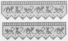 Intarsia Patterns, Fair Isle Knitting Patterns, Knitting Charts, Knitting Designs, Crochet Patterns, Easy Cross Stitch Patterns, Simple Cross Stitch, Cross Stitch Charts, Gato Crochet