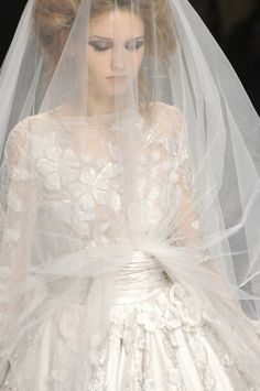 Wedding gown and veils; Valentino at the Milan fashions week, more styles>
