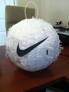 Golf Pinata.....take a soccer pinata and take off the black spots...then add a…