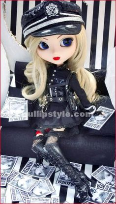 Pullip Melissa $92  - Daring Sexy police Style Design  - Same Concept as Sexy Police costume style of DAL (release June, 2010)  - Remove Jacket to feature, Corset, Top and Short Pant  - Open Pout  - Cool Blue Eyes and Blonde Curly Hair
