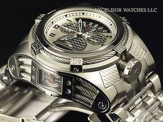 NEW Invicta 16318 Bolt Zeus Tria Swiss Made Chrono Stainless Steel 3-Dial Watch