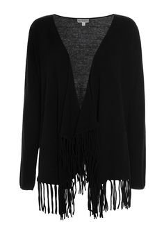 830715 – Savanna Cardigan with tassels - Black