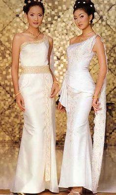 1000 images about thai n laos dress on pinterest laos for Thai style wedding dress