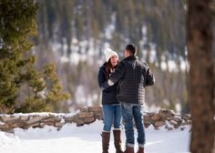 Proposal Sapphire Point Overlook Winter Reaction to Proposing