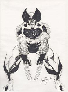 Comic Book Artists, Comic Books Art, Comic Art, Wolverine Art, John Romita Jr, Jr Art, Marvel Comics, Marvel Dc, Arte Horror