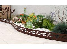 Bordure de jardin en acier fer vieilli ajourée - Jardin et Saisons
