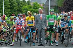 Stage 4.  Seraing to Cambrai. At the start with the King of Belgium.