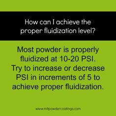 Proper fluidization level #powdercoating www.MITPOWDERCOATINGS.com
