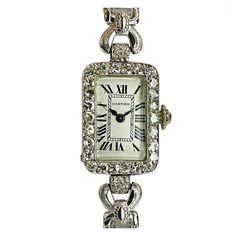 Cartier France Lady's Deco Diamond Watch, 1930s