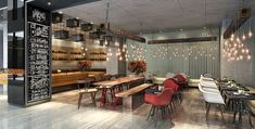 Lounge bar, speciality restaurant and clubhouse lounge at M3M Clubhouse in Gurgaon, India designed by Studio HBA