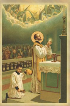 St. Antony Mary Zaccaria. His first Mass was surprised by the miraculous appearance of a chorus of angels at the time of the Consecration!