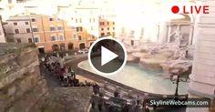 Live webcam of Trevi Fountain and other world destinations via Skyline Webcams