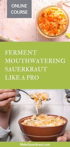 Master the Surefire Sauerkraut Method to fearlessly ferment sauerkraut, effortlessly add it to your meals, and easily supercharge your gut health. Includes videos, slide shows, text delivery, PDFs, step-by-step recipe card decks, and Zoom calls for additional support! #guthealth Fermented Sauerkraut, Homemade Sauerkraut, Fermented Cabbage, Sauerkraut Recipes, Fermented Foods, Surefire, Recipes For Beginners, Gut Health, Vegetable Recipes