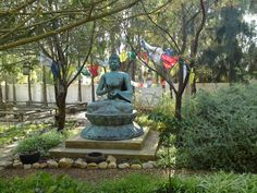 Budha in the garden at Temenos in McGregor, South Africa