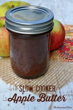 This Slow Cooker Apple Butter could not be easier!  Leave it to simmer overnight while you sleep, and you will wake up to the most delicious fall treat!