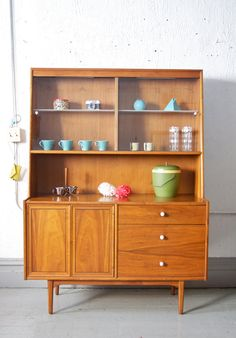 Vintage Mid Century Drexel Declaration Hutch by departmentChicago, $995.00