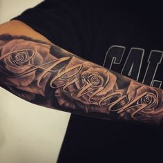 awesome sleve rose tattoos for men tattoosformenforearm tattoos pinterest tattoos sleeve. Black Bedroom Furniture Sets. Home Design Ideas